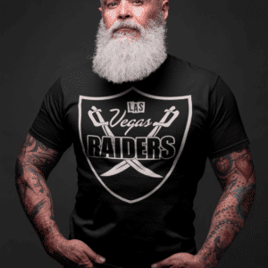Las Vegas Raiders Shield Black T-Shirt