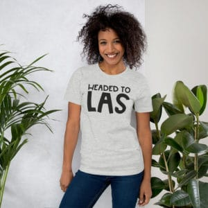 Headed to LAS Premium Short-Sleeve Unisex T-Shirt