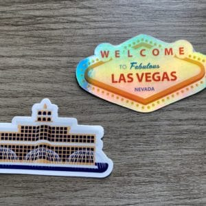 $6: Vegas Laptop Sticker 2-Pack