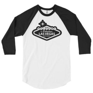 Welcome to Vegas Raiders-Inspired 3/4 sleeve raglan shirt