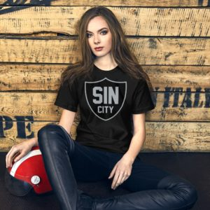 Sin City Raiders Shield Premium Short-Sleeve Unisex T-Shirt