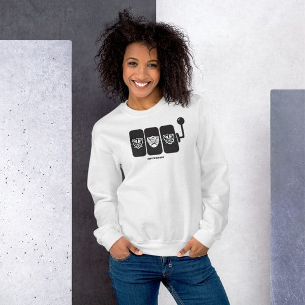 Raiders Slots Just Win Baby Unisex Sweatshirt