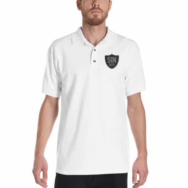 Sin City Raiders Shield Embroidered Polo Shirt