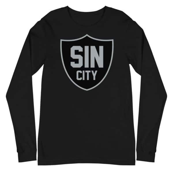 Sin City Raiders Shield Unisex Long Sleeve Tee