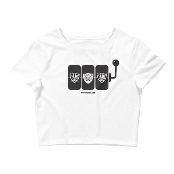 Raiders Slots Just Win Baby Women's Crop Tee