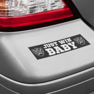 Just Win Baby Bumper Sticker (11.5in x 3in)