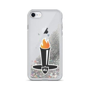 Liquid Glitter Al Davis Tribute iPhone Case